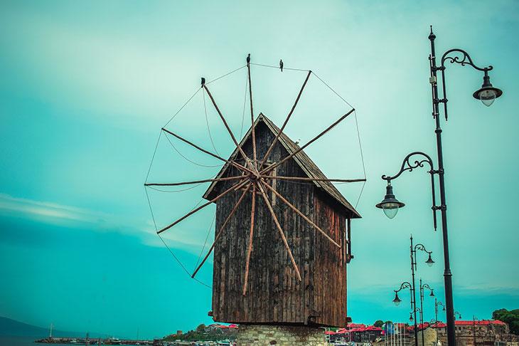 Мельница в городе Несебр